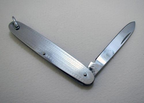 China Vintage Stainless Steel Pocket Folding Knife c.1960 (1 of 6)