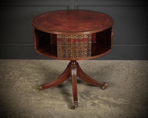 Rare Revolving Bookcase Drum Table (1 of 10)
