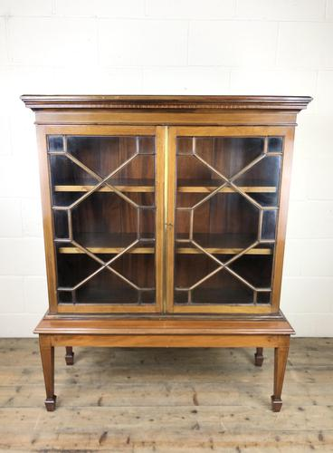 Mahogany Glazed Bookcase or Display Cabinet (1 of 12)