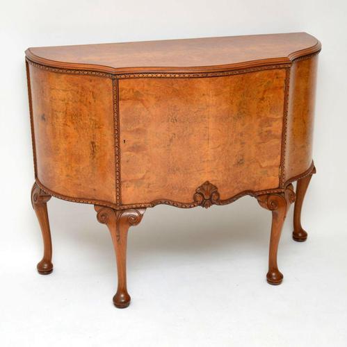 Antique Queen Anne Style Burr Walnut Cabinet (1 of 8)