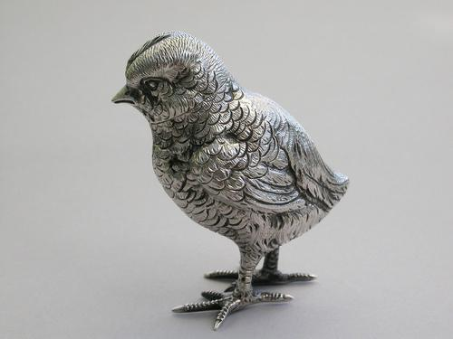Victorian Novelty Silver Chick Pepper by Jane Brownett, London, 1882 (1 of 11)