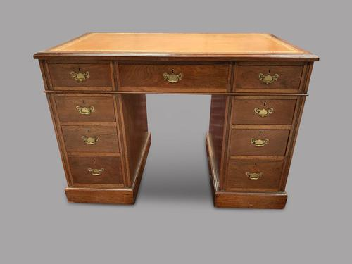 Late Victorian Small Mahogany Desk (1 of 4)