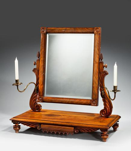 Regency Period Dressing Mirror with Centre Section Drawer (1 of 6)