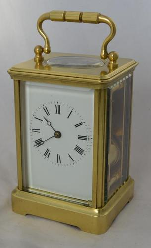 early Shutter Winding Covers Striking Carriage Clock (1 of 4)