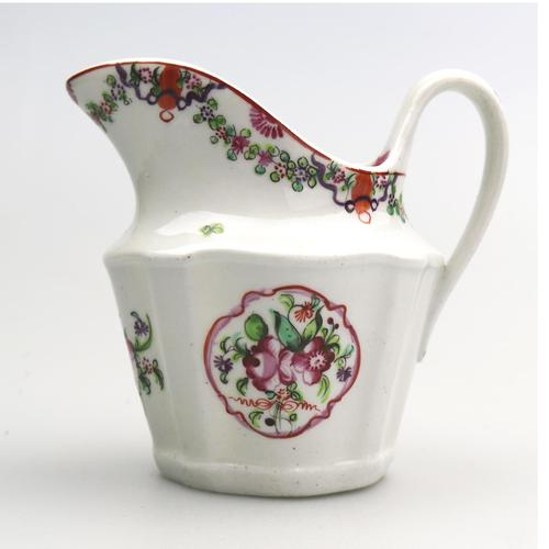 Very Pretty New Hall Porcelain Floral Jug c.1790 (1 of 8)
