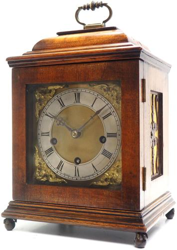 Miniature Lenzkirch Chiming Mantel Clock German Westminster Chime Bracket Clock (1 of 11)