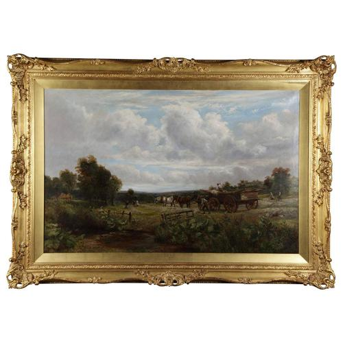 Country Scene with Hay Cart by Charles Thomas Burt (1 of 14)