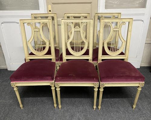 Set of 6 Harp Back French Dining Chairs (1 of 17)