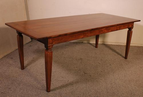 19th Century Farmhouse Table in Cherry Wood - France (1 of 6)