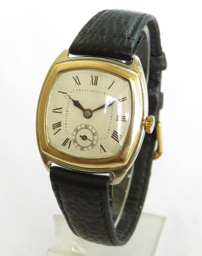 9ct Yellow Gold & White Gold Mid-size Wrist Watch 1927 (1 of 5)