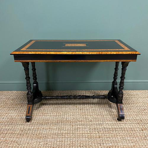 Spectacular Victorian Arts & Crafts Walnut Antique Centre Writing Table (1 of 6)