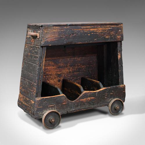 Antique Industrial Machinist's Truck, English, Trolley, Kitchen, Wine, Victorian (1 of 12)