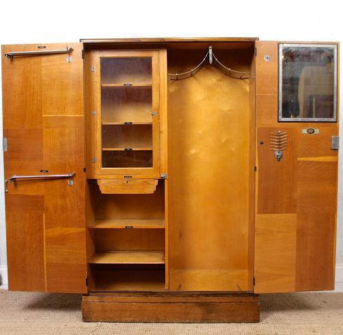 Compactum Oak Wardrobe Antique Vintage Gents Armoire (1 of 14)