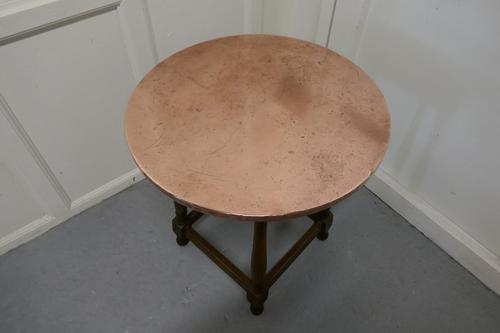 Copper Topped Tavern Table or Occasional Table (1 of 7)