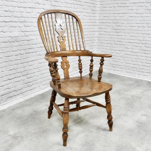 Antique Broadarm Windsor Armchair in Ash & Elm (1 of 7)