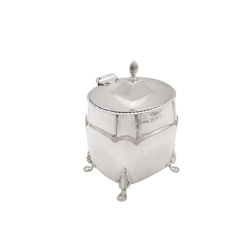Antique Edwardian Sterling Silver Caddy   1906 (1 of 8)