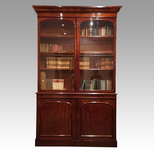 Victorian mahogany library bookcase (1 of 11)