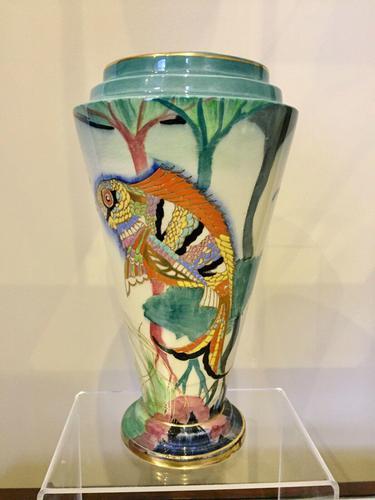 Carlton Ware River Fish Vase by Violet Elmer c.1930 (1 of 15)