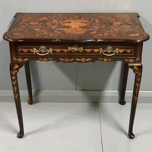 Rare 18th Century Dutch Marquetry Writing Table (1 of 13)