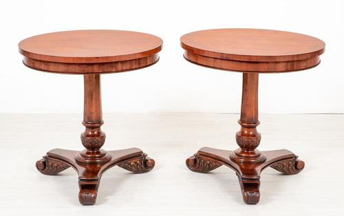 Pair of Mahogany William IV Style Occasional Tables c.1930 (1 of 6)