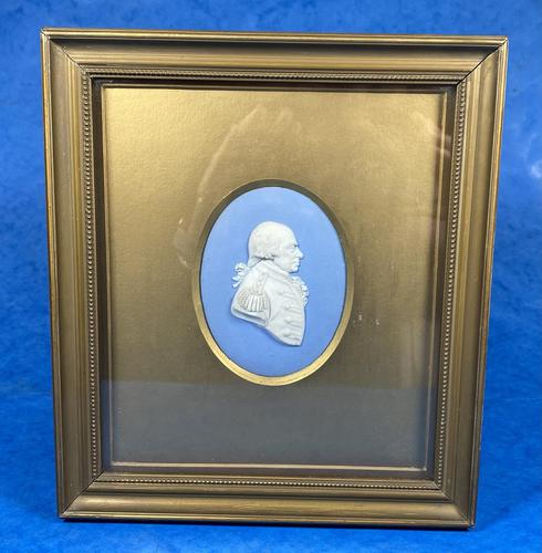 Victorian Framed Wedgwood Panel of a Military Gent (1 of 3)