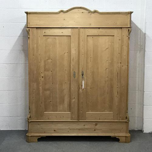 Large Old Pine Arched Wardrobe - Dismantles (1 of 5)