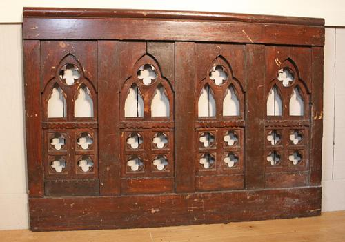 2 Lengths of 19th Century Gothic Arched Panelling (1 of 9)