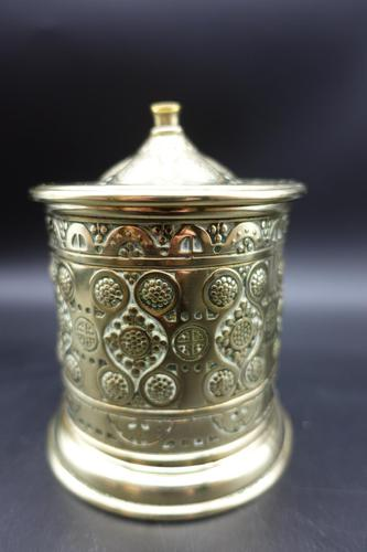 Attractive French Cast & Engraved Desk String Box (1 of 5)