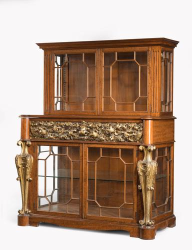 Mid 19th Century Satinwood Cabinet with Elaborate Giltwood Decoration (1 of 7)