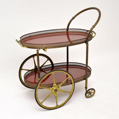 1960's Vintage French Brass Drinks Trolley (1 of 13)
