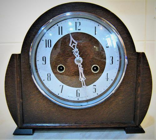 Superb Late 1940's English Striking Mantle Clock by Smiths-Enfield (1 of 5)