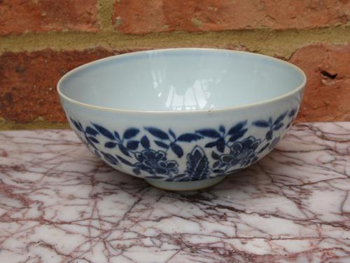 Chinese Porcelain Bowl with Lotus Decoration, Chenghua Mark (1 of 8)
