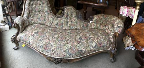 Ornately Carved Victorian Sofa (1 of 12)