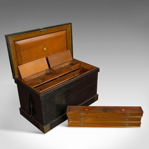 Antique Master Shipwright's Chest, English, Mahogany, Tool Trunk, Victorian (1 of 12)