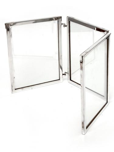 Simple Simon Patent Campaign Style Silver Plated Folding Photo Frame (1 of 7)
