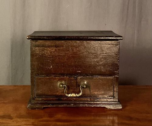 Early Nineteenth Century Miniature Pine Mule Chest (1 of 8)