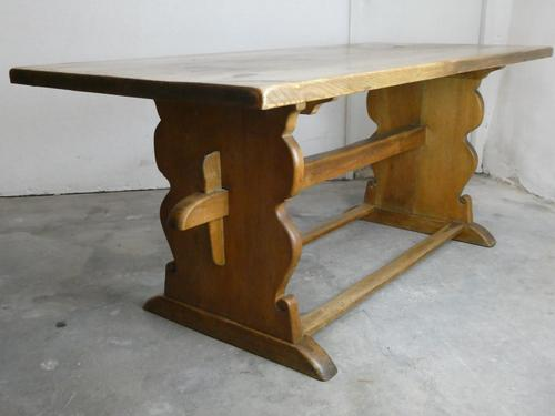 1920s Solid Oak Refectory Table (1 of 14)