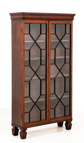 Georgian Style Mahogany Glazed Bookcase (1 of 6)