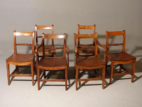 Good & Original Set of Six '4+2' Mid 19th Century Walnut & Oak Chairs (1 of 6)