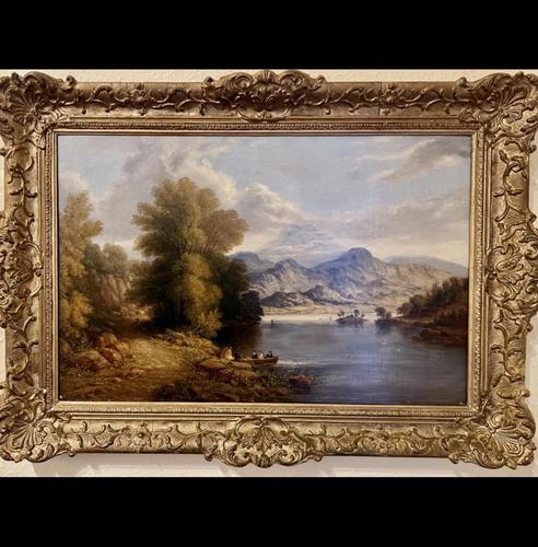 Charming Pair of Framed Oil on Canvas Lakeland Paintings (1 of 6)