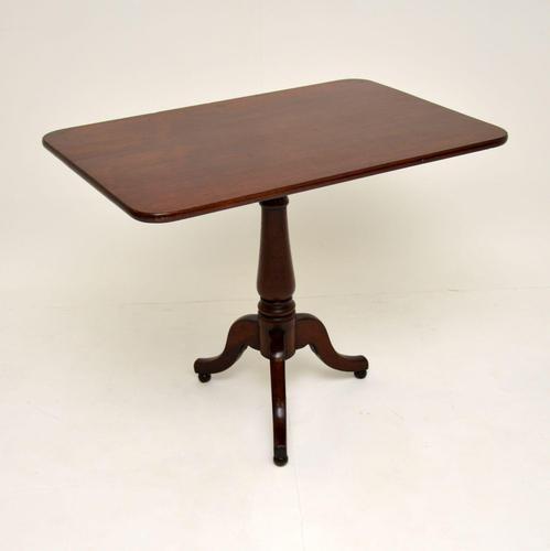 Antique Georgian Solid Mahogany Tilt Top Table (1 of 12)