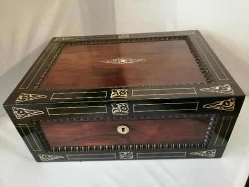 19th Century Rosewood Jewellery Box (1 of 10)