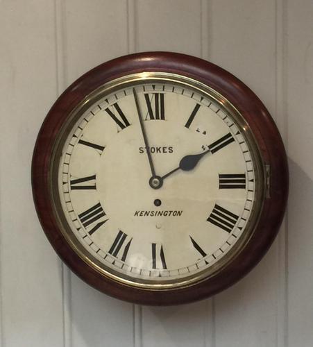 Mahogany Fusee Dial Clock (1 of 19)