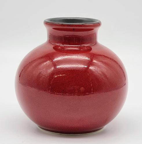 Small Poole Pottery Delphis Vase, Red (1 of 5)