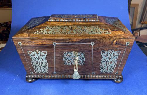 Regency Rosewood Twin Canister Tea Caddy (1 of 17)