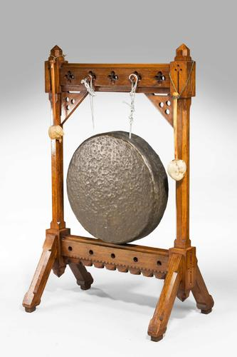 19th Century Oak Framed Gong (1 of 4)