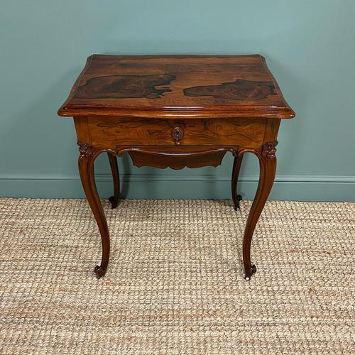 Spectacular Quality Victorian Rosewood Antique Work Table (1 of 8)