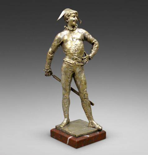 Bronze Figure of a Harlequin by Emile Laporte (1 of 6)