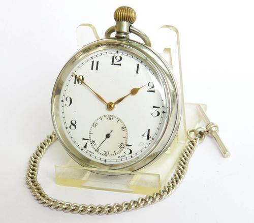 1930s Revue Pocket Watch & Chain (1 of 4)