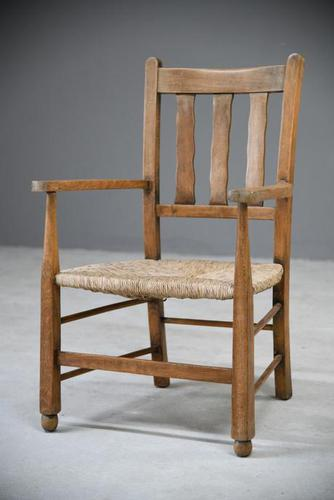 Beech & Rush Arts & Crafts Side Chair (1 of 9)